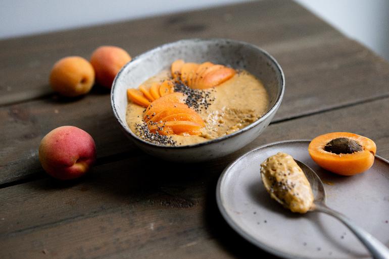 Meruňkový a tonkový fazuľový ovos