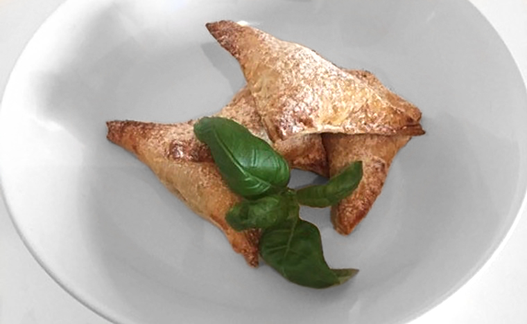 Veggie, Sea Buckthorn and Basil Dumplings